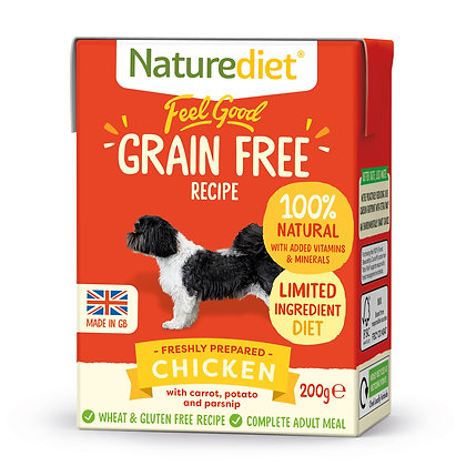 Naturediet Feel Good Grain Free Dog Food Chicken ( 200g/ 390g )
