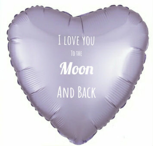 Luxe pale purple heart mylar
