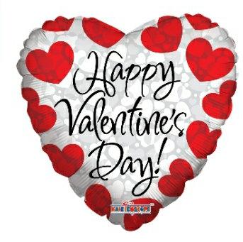Happy Valentine's day mylar balloon