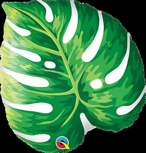 "Monstera leaf 18"" mylar balloon"