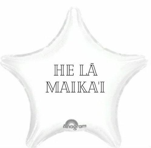 "White star 18"" mylar balloon"