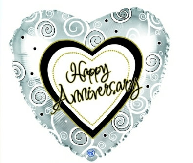 "Happy anniversary 18"" mylar balloon"