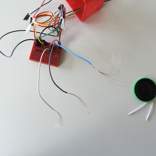 Prepare the cables to connect the conductive cables (extensions)