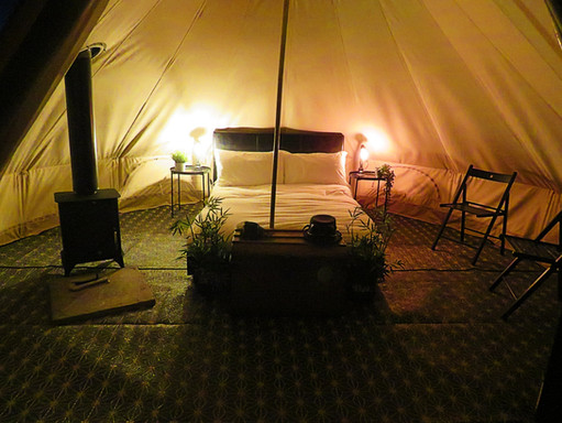 Bell Tent - at night
