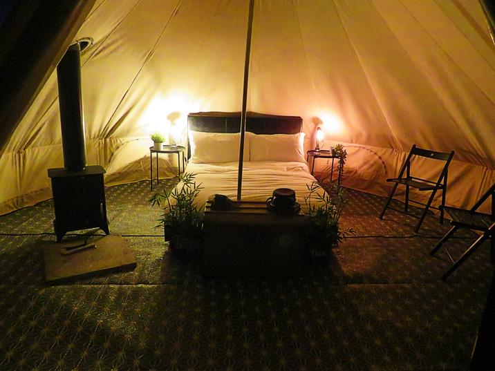 Bell Tent - night