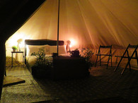 Bell Tent - night time