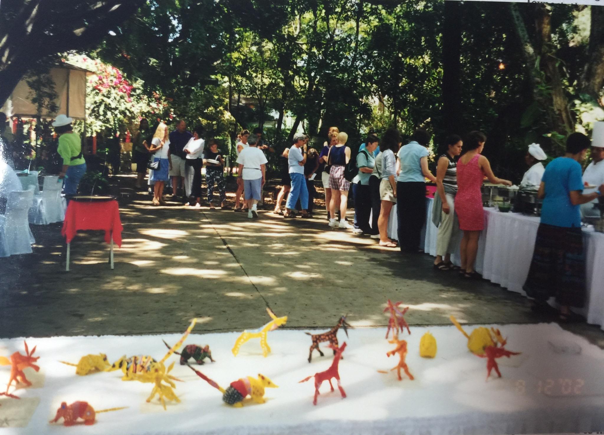 Attendees display of alebrijes