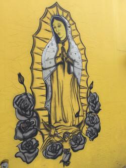 Oaxacan street art La Virgen