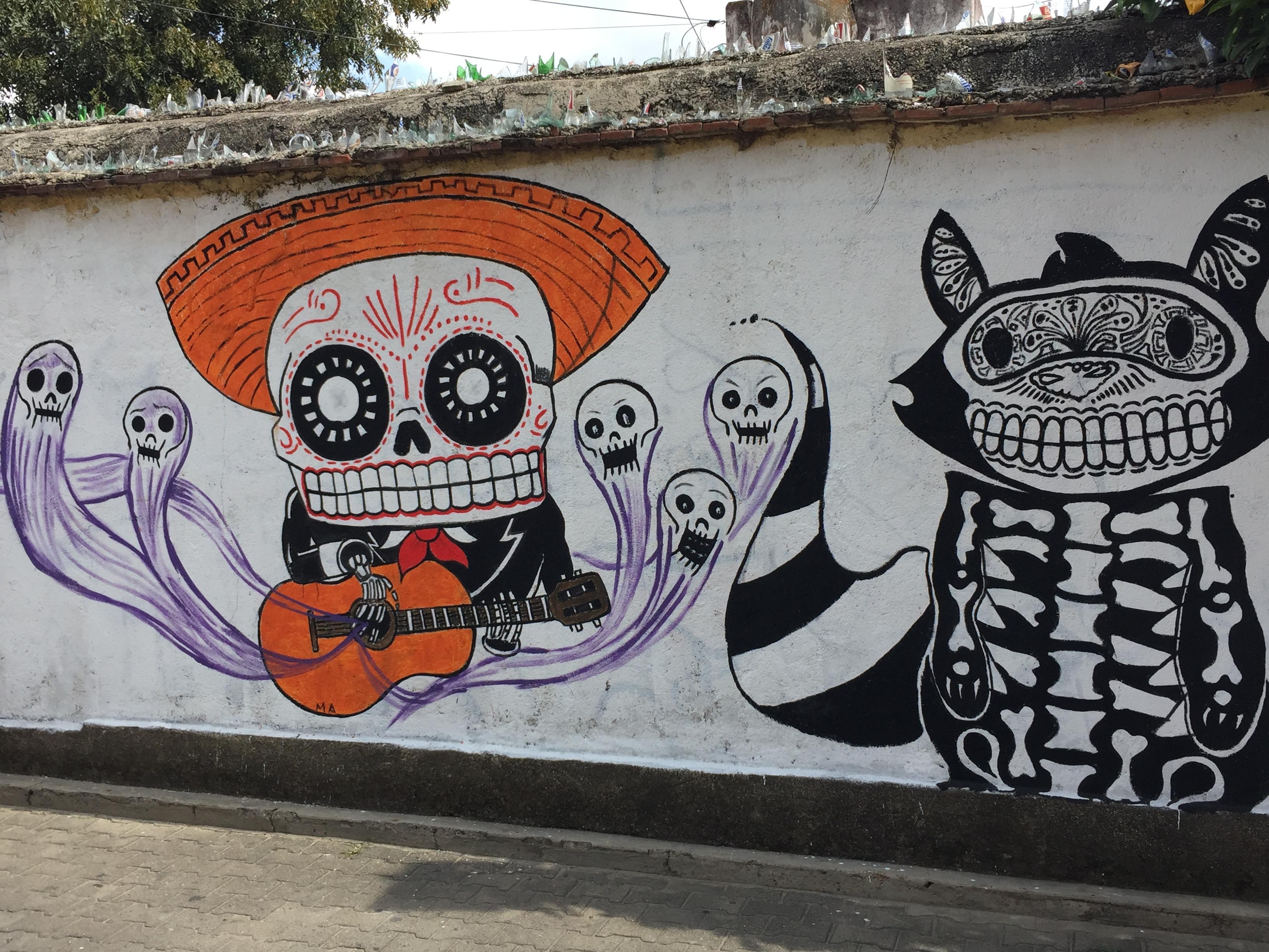 Oaxacan street art mural