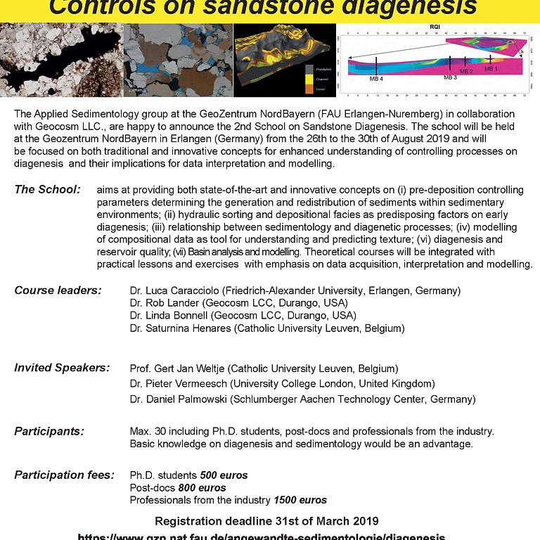 2nd School on 'Controls on sandstone diagenesis'
