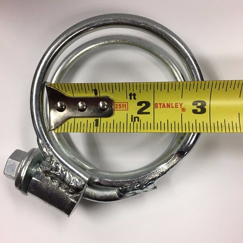 """SPD Performance 2.5"""" 2 1/2 Exhaust Clamp, Super Heavy Duty Zinc Plated Twin Seal"""