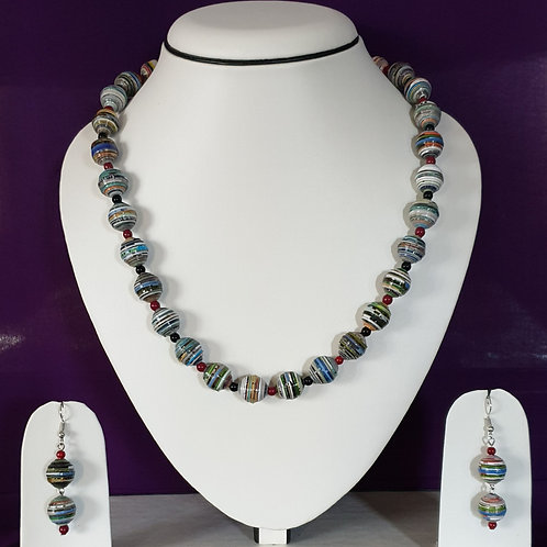 Multi Colored Round Beads Short Set