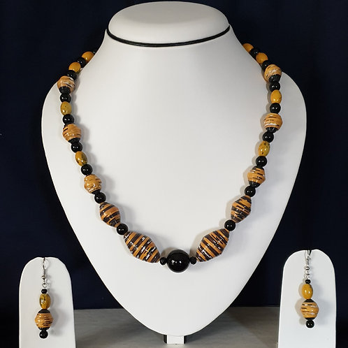 Honey Bee Replica Medium Set with Matching Earrings
