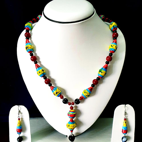 Bright Colored Set with Matching Earrings