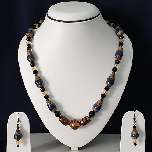 Drop Beads Set with Matching Earrings