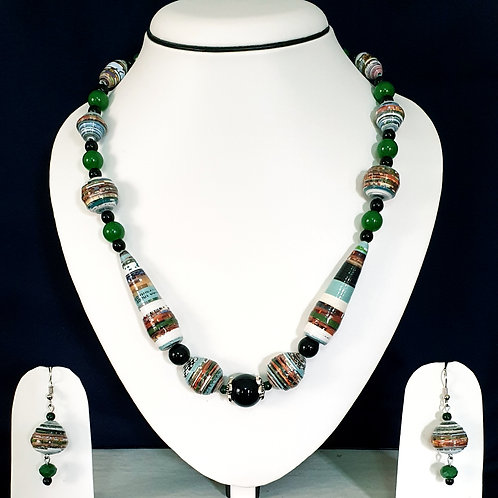 Short Multi Colored Conical Beads Set