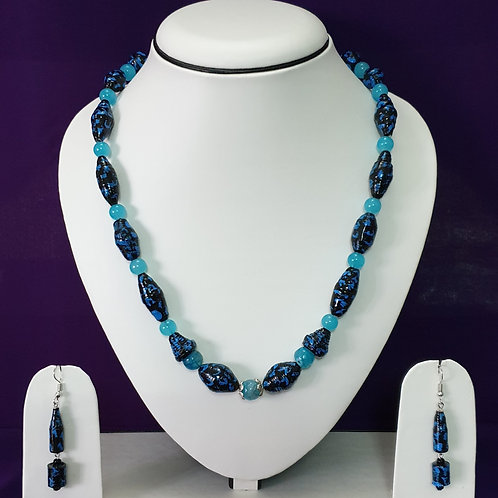 Ice Blue & Teal Set with Matching Earrings