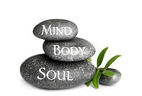 Stack of zen stones with words Mind, Body, Soul on white background.jpg