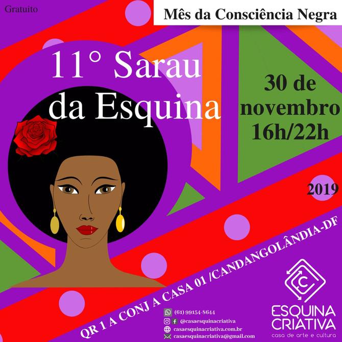 Esquina Criativa realiza seu 11° sarau com homenagem ao dia da  Consciência Negra