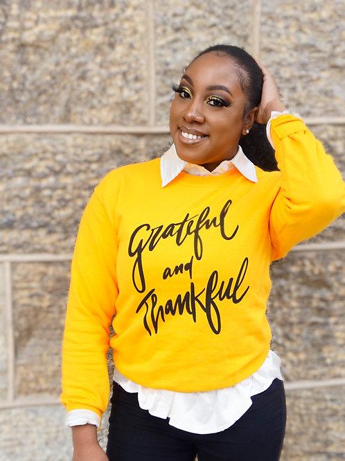 GRATEFUL & THANKFUL CREWNECK