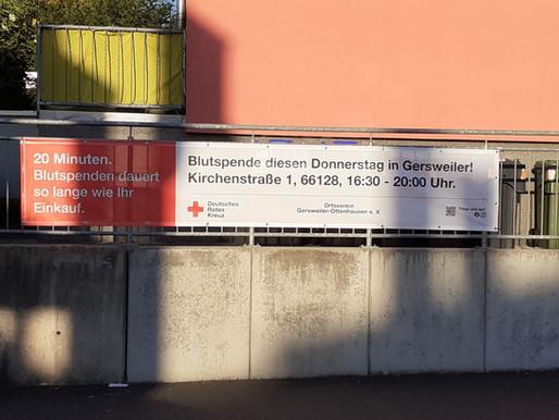 Neue Blutspende-Banner & Werbung