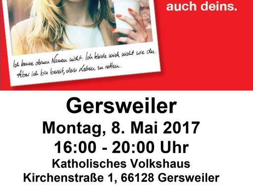 Blutspendetermin in Gersweiler