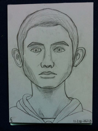 Ludvig 13 yrs old. 1st self-portrait