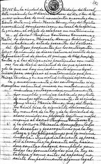 Marriage of Micaela Arango Espinoza 1.jp