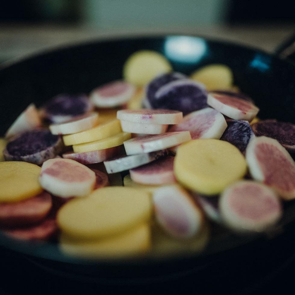 Bunte Kartoffelpfanne