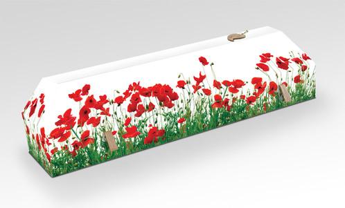 cercueil coquelicot