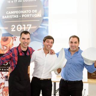 O vencedor Pedro Marmelo e os finalistas