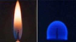 Formato da chama de uma vela em gravidade zero.