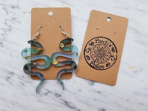 Custom Made to Order Kundalini Snake Earrings