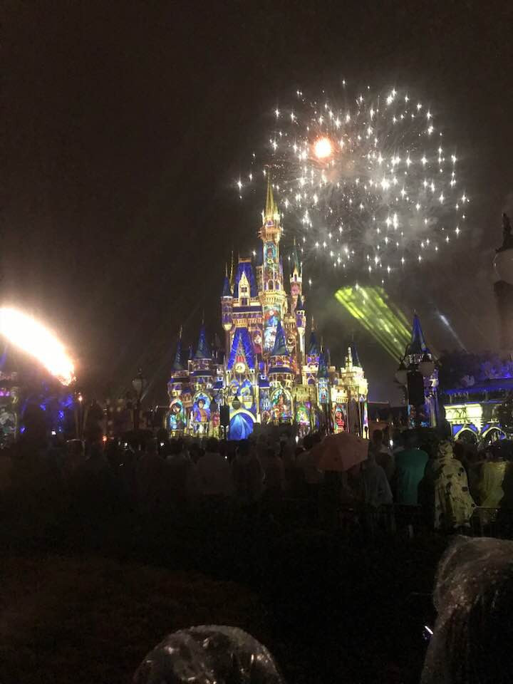 The Cinderella Castle during the show