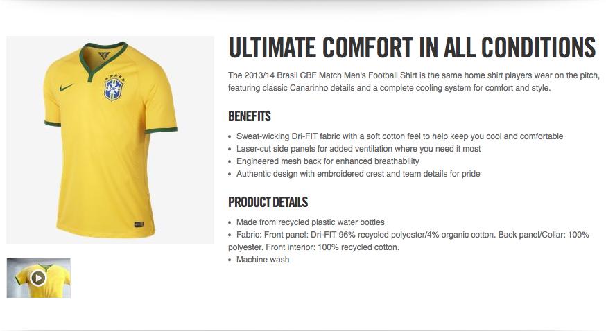 Nike Brazilian Football Shirt Launch