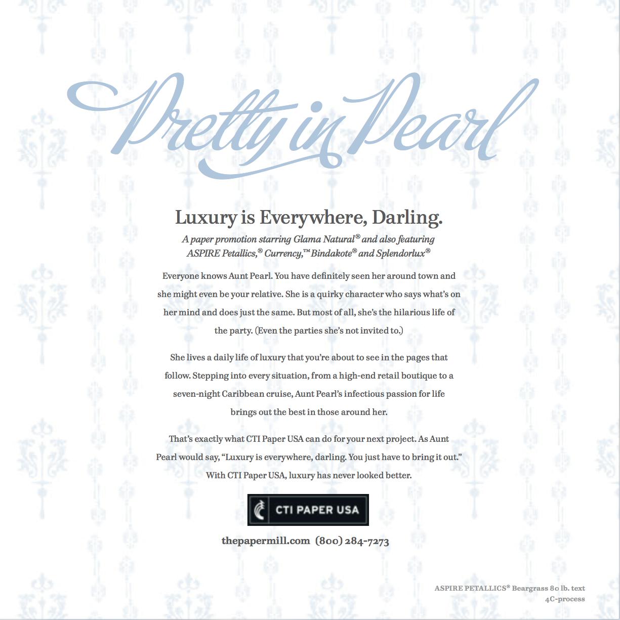 """CTI Paper USA """"Pretty in Pearl"""""""