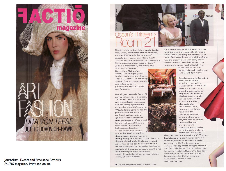 Factio Magazine Copy