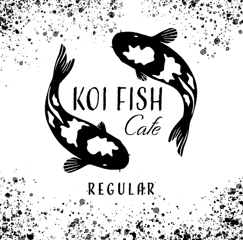 Koi Fish Cafe Regular Label.png