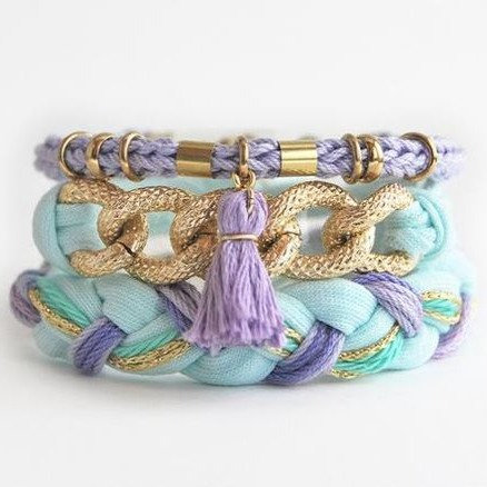 Braided Rope & Chain Bracelet - Jewelry Making Kit