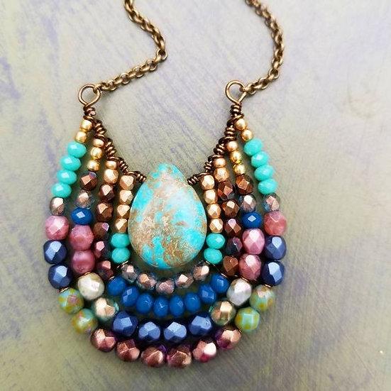 Boho Stone Beaded Necklace - Jewelry Making Kit