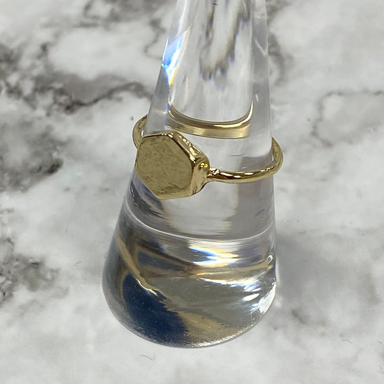 Simple Gold Hexagon Ring