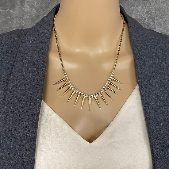 Spiked Rhinestone Necklace