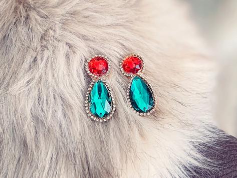 How to Create Jeweled Christmas Drop Earrings