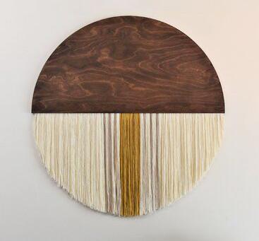 How to Create a Half Moon Wood & Yarn Wall Hanging