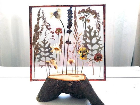 How to Create a Pressed Flower Glass Panel