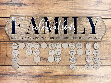 How to Create a Family Celebrations Board