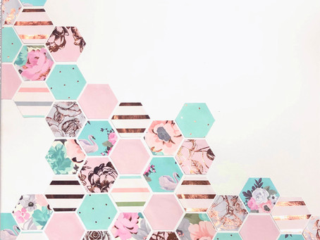 DIY Hexagon Wall Art in 3 Simple Steps