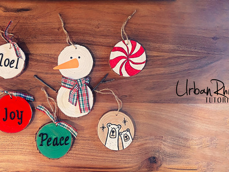 How to Create Wood Slice Ornaments