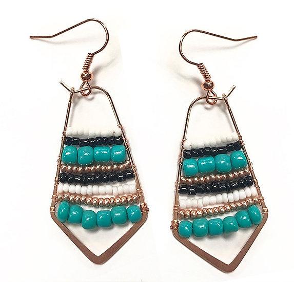 Beaded Bezel Earrings - Jewelry Making Kit