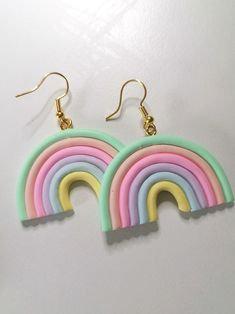 Polymer Clay Rainbow Earrings - Jewelry Making Kit